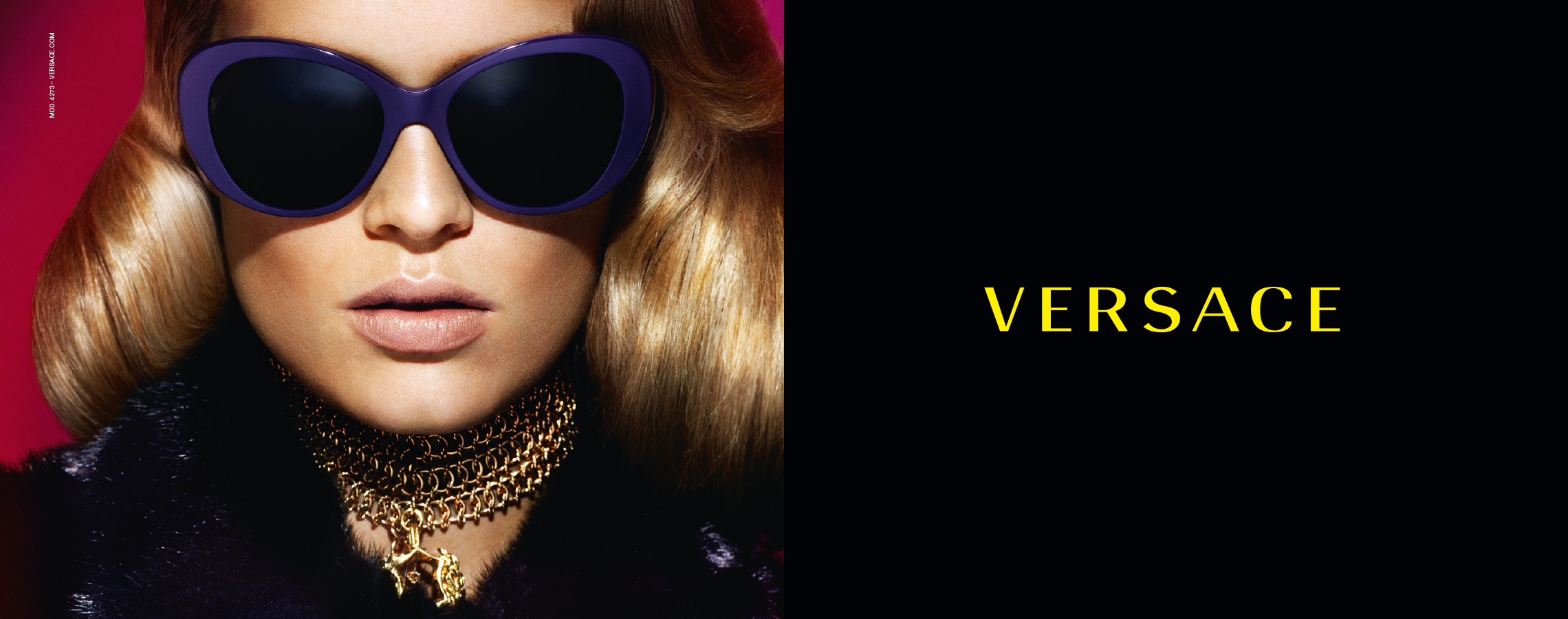 15858fd3906a Kate Grigorieva for Versace Eyewear fall winter 2015 campaign